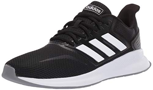 adidas Originals Women's Falcon Running Shoe, Black/White/Grey, 9 M US