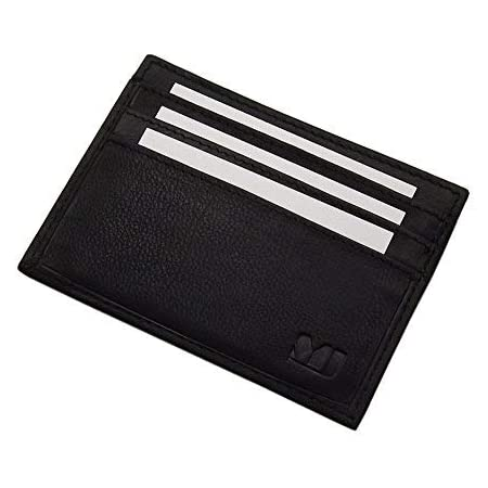 Noir Cuir de Buffle Mini Porte-Monnaie MJ-Design-Germany en diff/érentes Couleurs