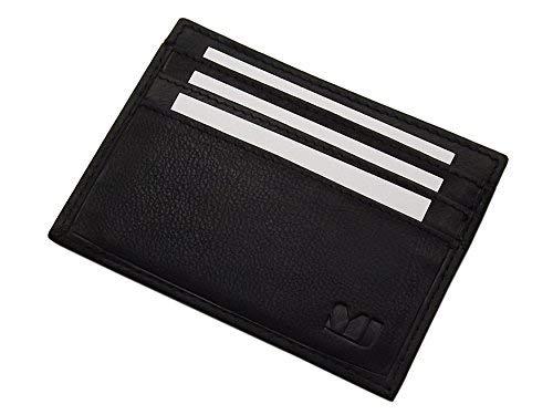 Extra Plate XL Cuir Porte Cartes de crédit MJ-Design-Germany en 3 différentes Couleurs (Noir)