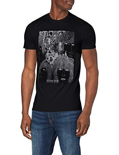The Beatles Reverse Revolver - T-shirt - Manches Courtes - Homme - Noir (Black) - X-Large (Taille fabricant: X-Large)