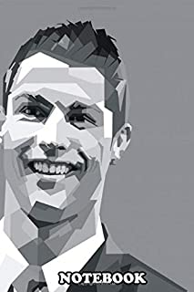 Notebook: Cristiano Ronaldo Received The Balloon Trophy , Journal for Writing, College Ruled Size 6