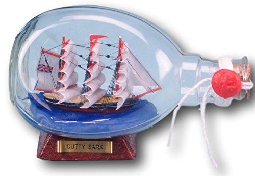 Cutty Sark en cristal con hoyuelos de Papá Noel con botella