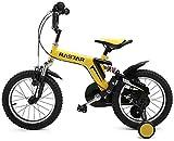 ZSY Bicicletas Bicicletas para niños, Bicicleta para niños 2346 años Bicicleta de niño 12-14/16 Pulgadas Boy Bicycle Outdoor Deportes Montar en Bicicleta (Color: Amarillo, Tamaño: 14in)