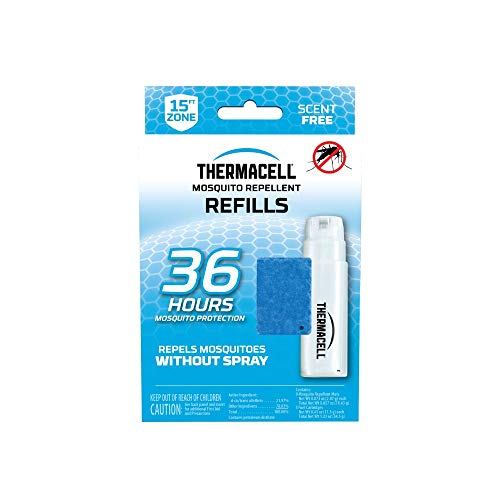 Thermacell Mosquito Repellent 36-Hour Refill; Includes 3 Fuel Cartridges & 9 Repellent Mats; Compatible With Fuel-Powered Thermacell Repellers; Scent-Free, Deet-Free Bug Spray Alternative