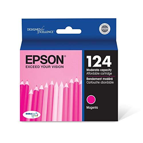 Epson T124320 DURABrite Ultra Magenta Moderate Capacity Cartridge Ink, Model:T124320-S