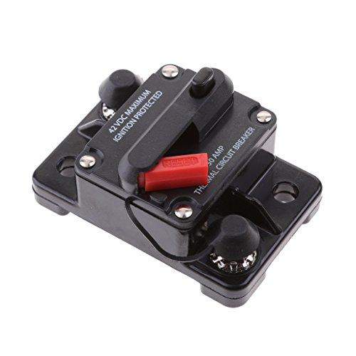 perfk Interruptor De Reinicio Manual De 50 Amperios Interruptor 12V-42V Coche SUV Barco Marino