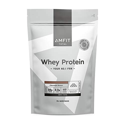 Amazon Brand - Amfit Nutrition Whey Protein Powder 2.27kg - Chocolate (Previously PBN brand)