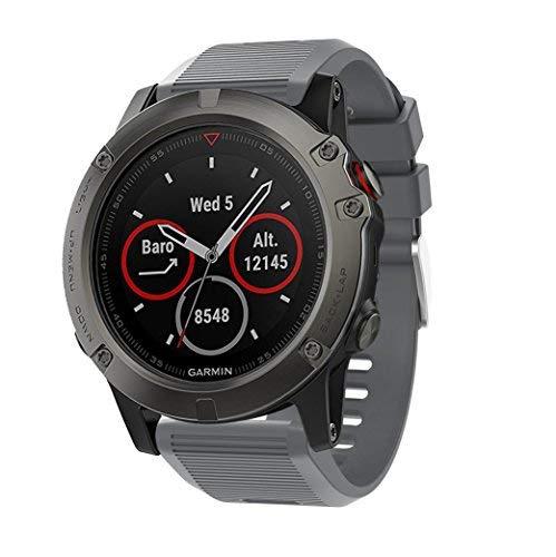Supore Kompatibel Armband für Fenix 5X/Fenix 6X Sportuhr - Silikon Sportarmband Uhr Band Strap Ersatzarmband Uhrenarmband für Garmin Fenix 6X Pro/Fenix 6X Sapphire/Fenix 5X Plus Smartwatch