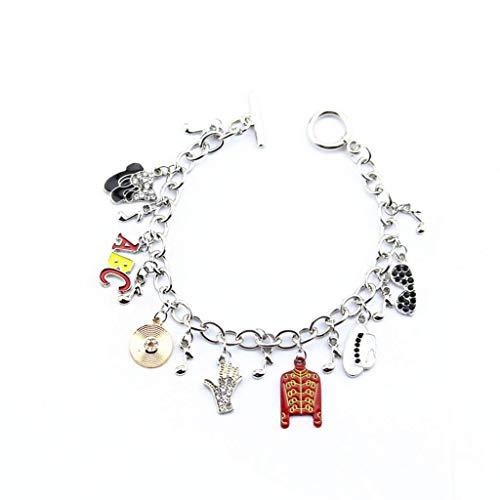 NHLBD Joyas de Arte Personalizadas, Missuso-Michael Jackson Moda Memorial Bracelet-Michael Jackson Braceletwg Joyería de aleación Pulsera Colgante