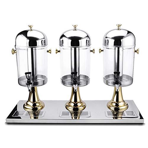 Bebida del jugo Dispensador Jugo profesional Dispensador de bebidas Máquina de leche té Barril Bebida fría máquina comercial de hielo y se calienta la bebida máquina con 3 grifos Adecuado para celebra
