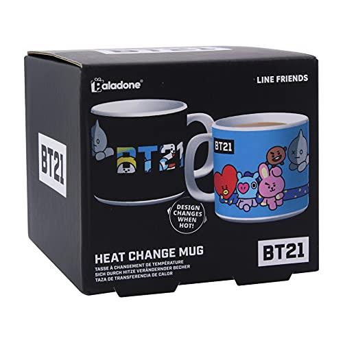 Paladone 5055964736484 BT21 Change Mug Heat Color Coffee & Tea Cup-Design wechselt bei heißem Geschenk für alle Altersgruppen, keramik , Blau