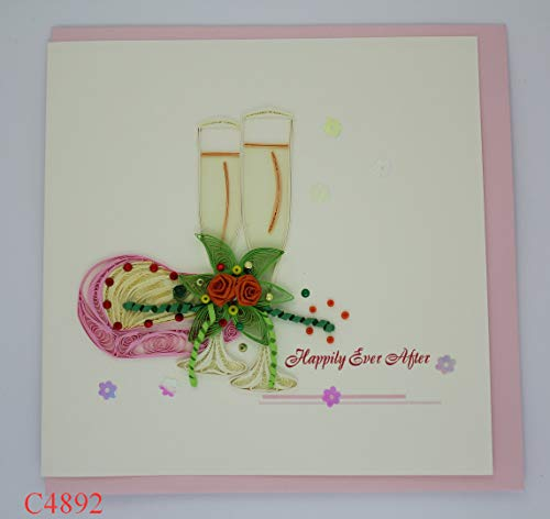 Love Quilling Card 3D Card Greeting Card Quilled Card
