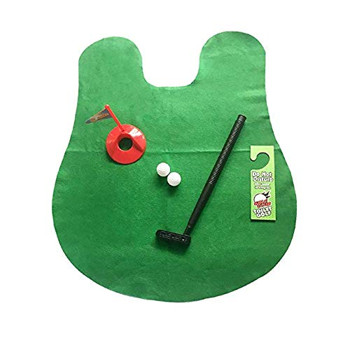 BGROEST-SP Golf für Kinder WC Golf Spiel Spielzeug Sets, Golf WC Spiel Putting Mat Golf Spiel-Lustige Spielzeug Ausbildung Zubehör Für Männer Frauen Und Kinder Indoor-Outdoor-Spiele für Kinder
