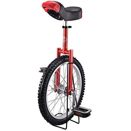 Lqdp Monociclo Bicicleta de Equilibrio para Adultos de 20'' para Mamá/Mujer, Rueda de 16''/ 18'' para Niña de 7/8/9/10/12 Años, Cumpleaños (Size : 20inch Wheel)