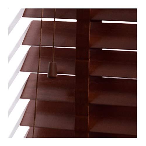 YJFENG Holzlamellen Vorhänge Jalousien Fenster Wasserdicht, Leiter Gurt Anpassen Der Windrichtung Drehknüppelsteuerung Glatt Unterstützung Anpassung (Color : Multi-Colored, Size : 135x80cm)