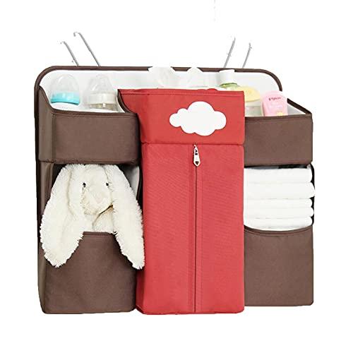 LJJOO Guardería Pañal Caddy Organizer Oxford Paño Bebé Colgante Malla Bolsa de Almacenamiento Bolsa de alojamiento, Adecuado para Habitaciones de Dormitorio con literas, Rieles de Cama, Cama de bebé,