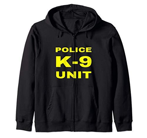 Police K-9 Unit Officer Tactical K9 Dog Handler Trainer Gift Zip Hoodie