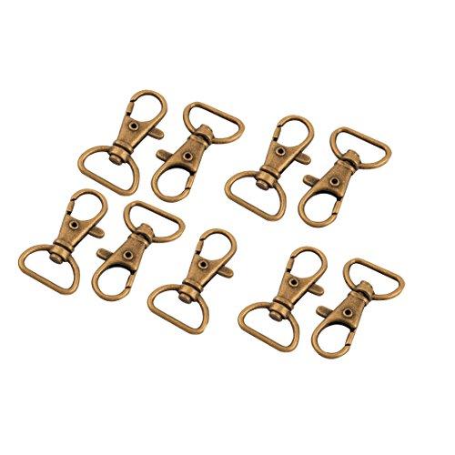 sourcingmap 9 Stk Metall Gepäck Tasche Band Strap Rotierend Schwenken Karabinerhaken Schnalle Bronze Ton de