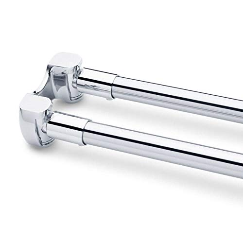 """Signature Hardware 939639-60 60"""" Curved Double Shower Curtain Rod"""