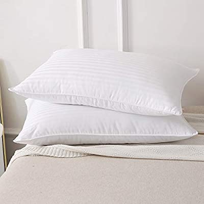 HOMEFOUCS Goose Feather and Down Pillows, Pair of 2