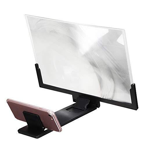 Ailyoo 14 Pulgadas de protección contra la radiación Plegable Teléfono Celular Pantalla Lupa 3D HD/Soporte Universal para teléfono Inteligente Lupa para Todos los teléfonos Inteligentes