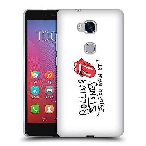 Head Hülle Designs Offizielle The Rolling Stones Exile On Main St. Alben Soft Gel Handyhülle Hülle Huelle kompatibel mit Huawei Honor 5X / GR5