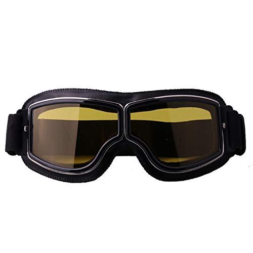 Blisfille Gafas de Fiesta Divertidas Gafas Proteccion Radial,Negro Amarillo
