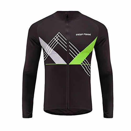 Uglyfrog Conjunto Ciclismo 2018 Hombre Primavera/otoño 3D Cojín Pantalones Larga Malliot de Ciclismo Elástica Ropa de Ciclista Transpirable Bodies MZ08