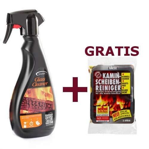 Kaminscheibe Glasreiniger 500 ml + Gratis RAKSO Kaminscheibenreiniger