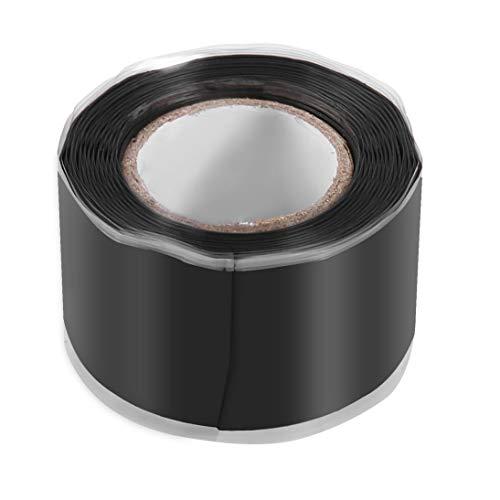 Hochviskoses Selbstklebeband Selbstfließendes Silikonband Reparaturband für Gartenwasserleitungen Dichtungsband Silikonwerkzeug - Schwarz - 1,5 m