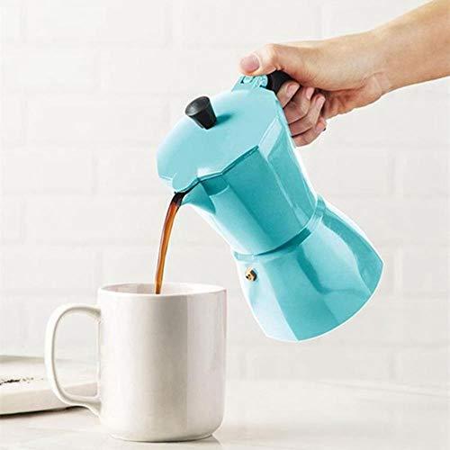 Jarras Café Accesorio Latte Mocha Coffee Maker Italian Moka Espresso Cafeteira Percolador Olla Estufa Cafetera 150 Ml, Azul