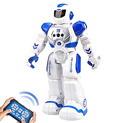 Kelibo Remote Control Robot for Kids, Intelligent Programmable Robot with Infrared Controller Toys,Dancing Singing RC Robot,LED Eyes,Gesture Sensing Robot Kit for Childrens