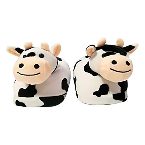 Holibanna Frauen Plüsch Hausschuhe Milch Kuh Winter Warmes Chinesisch Neujahr Frühlingsfest Paar Hausschuhe Outdoor Indoor Hausschuhe 1 Paar