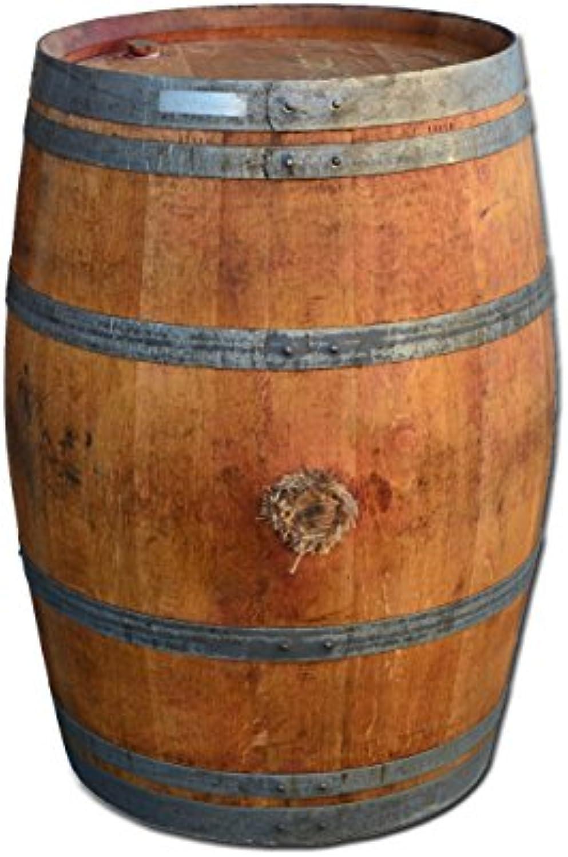 Temesso Stehtisch aus Weinfass, Dekofass, Gartentisch aus Holzfass - Fass natur und gelt