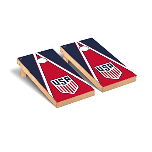 Victory Tailgate US Soccer Regulation Cornhole Game Set Triangle Version