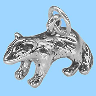 silver badger charm