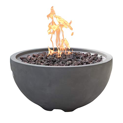 Nantucket Concrete Natural Gas Fire Bowl by Modeno