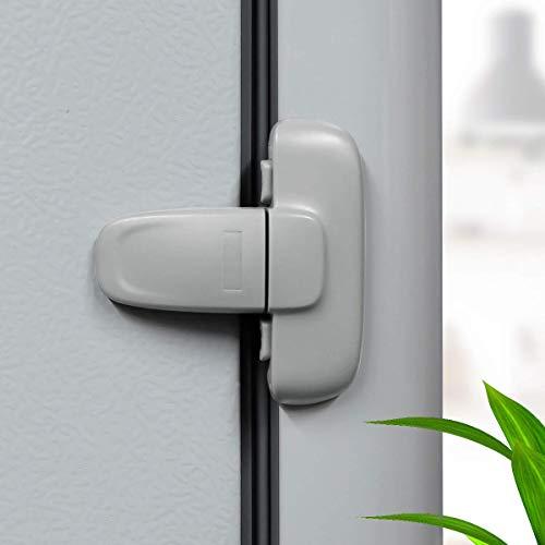 Cerradura para puerta de nevera, cerradura de congelador, seguridad para niños y bebés, fácil de instalar (1 paquete, gris)