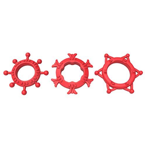 Heatop Soft Còckring Time Lapse Training D-ick R-ing Wasserdichte SIx Spielzeug für Männer