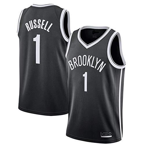 Aojing NBA Brooklyn Nets D'Angelo Russell 1 Unisex Sleeveless T-Shirt Basketball-Trikot NBA Swingman Jersey (Color : Schwarz, Size : XL)