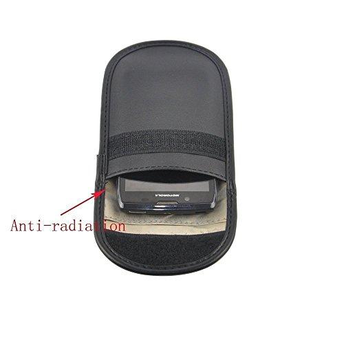 Lona de protección contra la radiación anti-rastreo anti-espía señal de bloqueo del teléfono caja, Bloqueador de señal de las llaves del coche(Negro)
