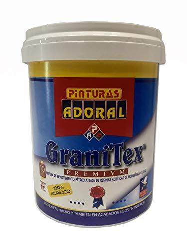 "Adoral - Pintura Plástica Exterior para fachadas ""Granitex Liso"" 750 ml (Blanco)"