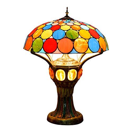 GLYYR Lámpara de escritorio europea creativa lámpara de mesa estilo Tiffany vidrieras de lujo salón bar frontal vestíbulo decoración de mesa grande 50 * 68 cm
