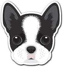 MFX Design Magnet Boston Terrier - Dog Breed Decal Sticker for Car Truck Magnet car Truck Magnetic Vinyl Sticks to Any Metal surface4.8 in x 5.2 in (12.3 cm x 13.2 cm)