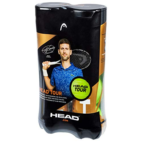 Head Testa Unisex Tour 2 x 4 Ball Tube Tennis, Giallo, Taglia Unica