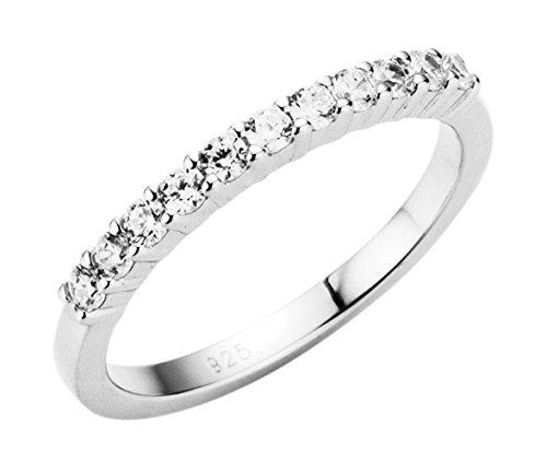 Giorgio Martello Milano Damen-Ring 925 Silber rhodiniert Zirkonia weiß Gr. 56 (17.8) - 195082493560