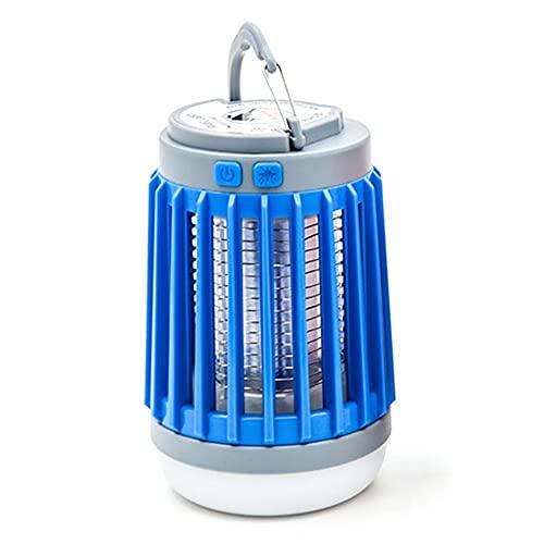 LED Bug de Solar Bug Zapper, Bug Bug Zapper para el hogar, Mosquito Zappper, Iluminación recargable USB, para al aire libre, camping, viajes, portátil Impermeable Insecto Pest Pest Trap