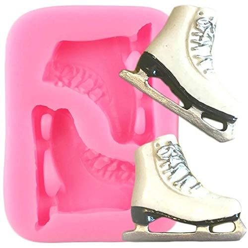 CVBGF Anchos-Patines-de-Hielo-Moldes-de-Silicona-Bricolaje-Zapatos-Joyas-Molde-de-Resina-Fondant-Herramientas-de-Decoración-de-Pasteles-Arcilla-Dulce