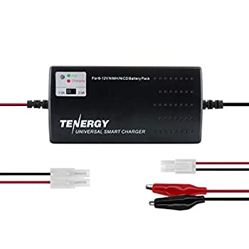Tenergy Universal RC Battery Charger for NiMH/NiCd 6V-12V Battery Packs Fast Charger for RC Car Airsoft Batteries Compatible with Standard Size Tamiya/Mini Tamiya/Alligator Clips Connectors 01025