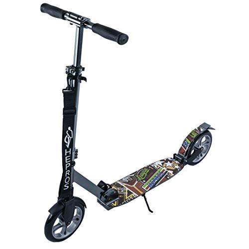 Hepros ABEC9 - Ruedas para patinete de ruedas (ruedas de 200 mm), color gris